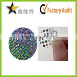 Factory high quality hologram sticker permanent adhesive label sticker anti radar sticker