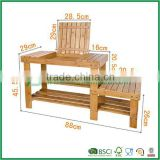Bamboo Shoe Rack, Bench, Stool, Seat with Storage Draw On Top,high and low levels