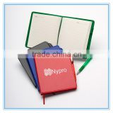 PU Hard Cover Stone Paper Notebook with ribbon bookmark