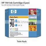 HP70 original inkjet plotter cartridge (cyan twin pack) suitable for HP Z2100/3100/3200 printer
