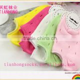 china hot sale candy color cotton child boat socks