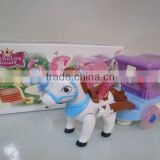 Automatic Steering battery operated toy horse carriage