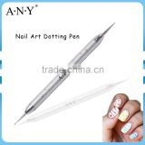 ANY Silver Metal Double Head Nail Art Design Nail Art Dotting Pen 2016 New