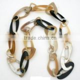 Eco-friendly high quality nice yellow and black buffalo horn jewelry necklace from vietnam