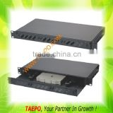 1U 24 fibers 19 inch rack mount chassis ODF with replaceable patch panel