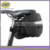 Black Bike Seat Pouch Bicycle Front Tube Bag Back Seat Storage Bag HYW048