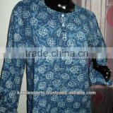Kurtis & Kurtas Tunics Printed Hand Block For Girls & Womens Made In india Jaipur Kurtis