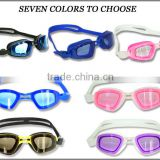 Factory supply anti-fog waterproof mirrored swimming goggles for adult/girls/men