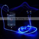 EL LED Glowing Light Earphone, Waterproof Sports Stereo Headset, Iluminous Atheletic Earbuds Headphone for iPhone6                                                                         Quality Choice