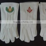Custom Made Cotton gloves, Wholesale price Masonic Gloves/ white cotton gloves
