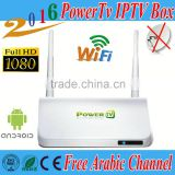 PowerTv X6 IPTV Arabic box free arabic box channels Android 4.4 tv box Wifi receiver tv BN sport channels kodi free forever
