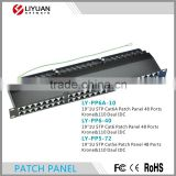 "LY-PP6A-10 48 Ports CAT6A/CAT6/CAT5 STP Patch Panel, 19"" 1U Krone& 110 Daul IDC Wall Mounted"