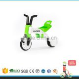 From 3 Wheel To 2 Wheel Changeable Saddle Push Bike