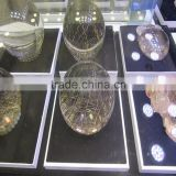 hot selling crystal ball decorative rock clear quartz crystal ball