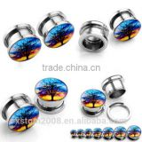 dream tree fashion ear plugs piercing expander stretcher surgical steel body jewelry free shipping