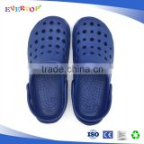 The latest fashional models of cheap wholesale for mens EVA slippers cheap unisex design navy blue garden shoes comfort clogs