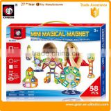 MINI 58 PCS cheap Educational magic Magnet block toys Building Block hot sale made in Shantou