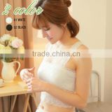 China Manufacturer Wholesale bra with decorative back strap, Lace Tube Top, Seamless Ladies Underwear Bra