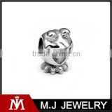 Silver Stainless Steel Frog Bead Bracelet Accessories