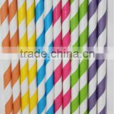 Colorful Barber striped paper straws - Stripes Biodegradable FDA - Available in 33 Colors