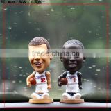 Custom 4inch players bobble head toys car display toys/custom POP hot sale car display toys plastic bobble head toys figure