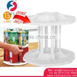 360 Carousel Home Can Tamer Rack Organizer Shelf 2 Liter Bottle Plastic Kitchen Storage Rack