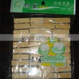Bamboo clothes clamp