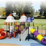 "Space Ship Plastic Spiral Slide ""CHINA 500 TOP BRAND "" Kids Dream Land Playground Spiral Slide (HA-07101)"