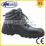 NMSAFETY SBP cow leather composite toe cap anti punction sole without steel plate light weight PU sole safety shoes