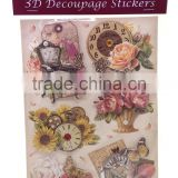 Printing Paper 3D sticker, Hot Sale 3D Decoupage Stickers, Craft Gift Sticker for Decoration