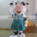 blue dress cartoon dairy cow mascot costumes