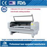 CAM1810-VT camera pointing double head embroidery pattern laser cutting machine