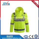 Top quality running reflective raincoat for women