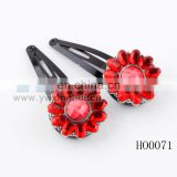 fashion crystal vintage alloy flower shape hair clip