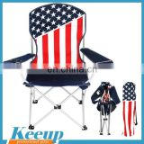 Promo items cheap Outdoor Camping Beach Folding Set american flag Chair