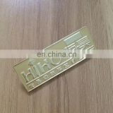 Eco- friendly material gold plated metal namebadge for hotel staff