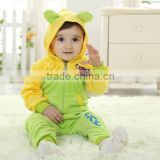 New on selling baby autumn winter animal onesie outfit suit kids fleece pajamas with hood