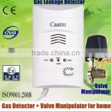 Independent wall-mounted smart gas leak sensor can work with solenoid valve, mechanical hand, the exhaust fan