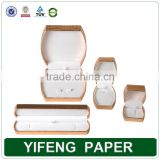 luxury necklace packaging paper jewelry box, cheap folding paper jewelry gift Packaging Box with foam inserts
