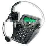est Selling Call center communication dial pad headset telephone & headphone telephones with rj11 plug