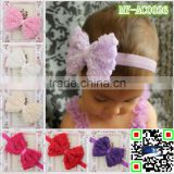 top quality chiffon rose bow fashion import hair accessories baby headwear kids hairbands MY-AC0026