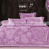 Purple Silk Jacquard Bedding sets, Cotton Jacquard duvet cover set 140 x 200