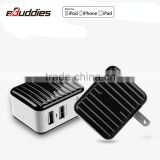 Travel charger 5v 3.4A foldable dual usb ABS Material US Plug wall charger 5v 3.4a 2 Port Dual