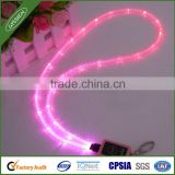 China wholesale new fashionable flashing LED lanyard with metal hook