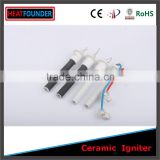 ISO CERTIFICATION HOT SALE 99%ALUMINA TOP GRADE HIGH TEMPERATURE RESISTANCE CERAMIC IGNITER IN STOCK