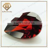 China Wuzhou Checkerboard Garnet Cubic Zirconia Rough Gemstone