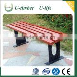 Customized wood plastic composite WPC garden chair outside