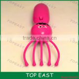 CE ROHS Cute Electric Cheap Plastic Handheld Head Facial Octopus Massager