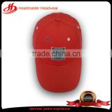 100% cotton red brand golf hat sample free parts fur baseball caps