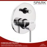 Hidden Hot and Cold Water Concealed Bath Shower Mixer with diverter faucet
